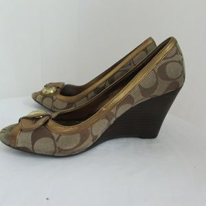 Coach Shoes - Vintage signature Coach wedges